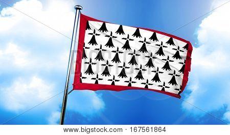 Limousin flag, 3D rendering
