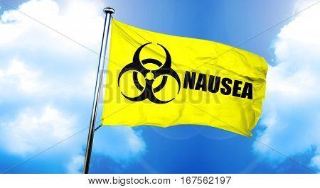 Nausea flag, 3D rendering