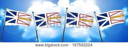Newfoundland and labrador flag, 3D rendering