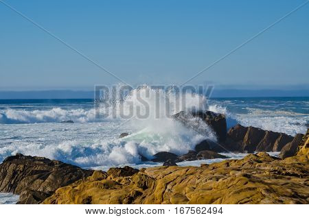 Waves Crashing Salt Point State Park California