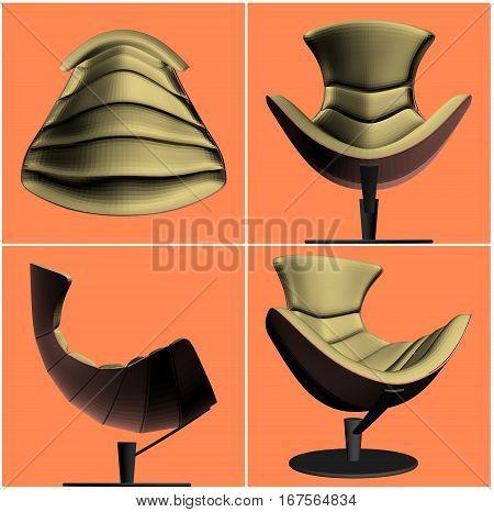 Modern Armchair Vector 27.eps