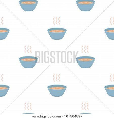 Hot soup icon cartoon. Single sick icon from the big ill, disease cartoon. - stock vector