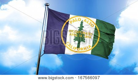 Palo Alto flag, 3D rendering