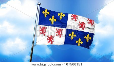 Picardie flag, 3D rendering