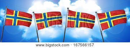 Orkney flag, 3D rendering