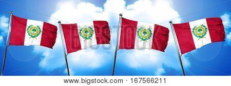 Raleigh flag, 3D rendering