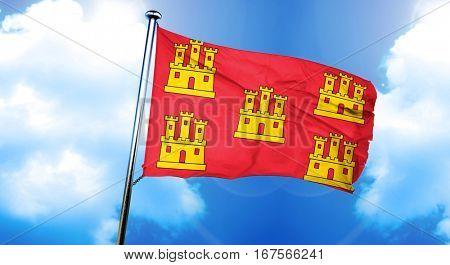 Poitou charentes flag, 3D rendering