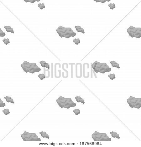 Asteroid icon in cartoon style isolated on white background. Space pattern vector illustration.