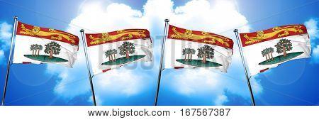 Prince edward island flag, 3D rendering