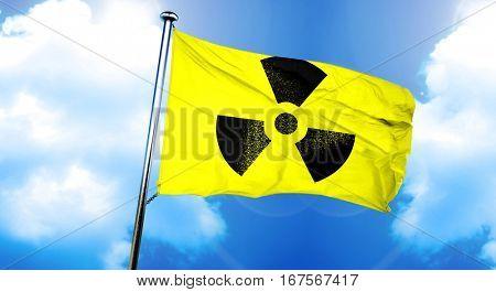 Radiation warning flag, 3D rendering
