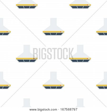 Exhaust hood icon in flat style isolated on white background. Kitchen pattern vector illustration.