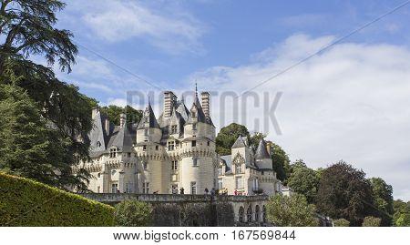 Usse Castle In Loire Valley