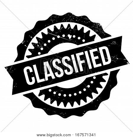 Classified stamp. Grunge design with dust scratches. Effects can be easily removed for a clean, crisp look. Color is easily changed. rubber grunge
