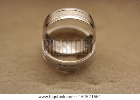 White gold wedding rings. Wedding rings with date on it.