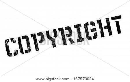 Copyright stamp. Grunge design with dust scratches. Effects can be easily removed for a clean, crisp look. Color is easily changed. rubber grunge