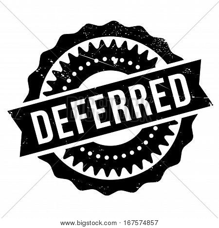 Deferred stamp. Grunge design with dust scratches. Effects can be easily removed for a clean, crisp look. Color is easily changed. rubber grunge