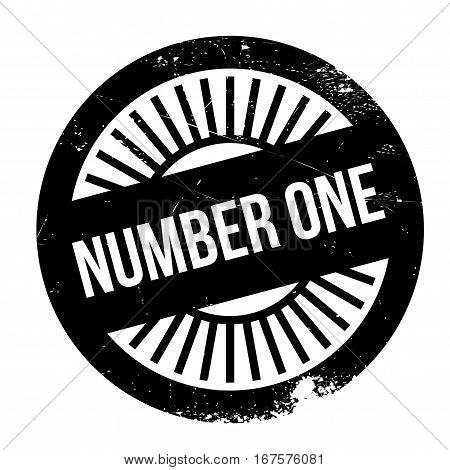 Number one stamp. Grunge design with dust scratches. Effects can be easily removed for a clean, crisp look. Color is easily changed.