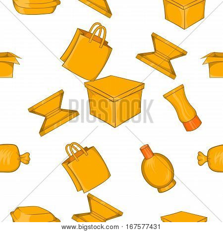 Packing pattern. Cartoon illustration of packing vector pattern for web