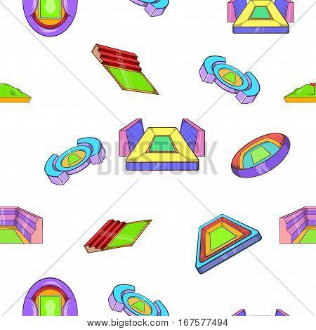Sport construction pattern. Cartoon illustration of sport construction vector pattern for web