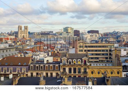 view of the city and cathedrale