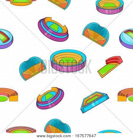 Sport complex pattern. Cartoon illustration of sport complex vector pattern for web