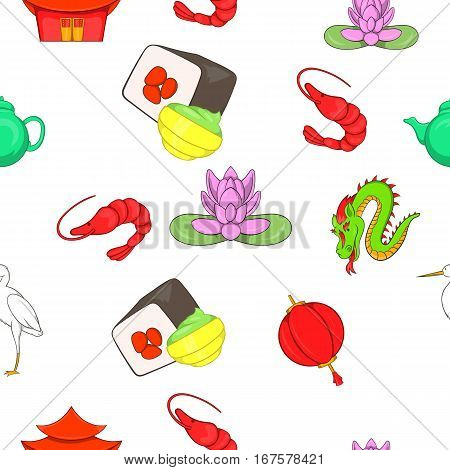 China Republic pattern. Cartoon illustration of China Republic vector pattern for web