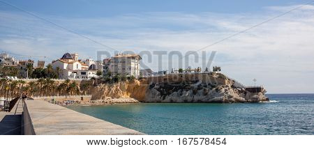 Beautiful house buildings at Spanish landscape.