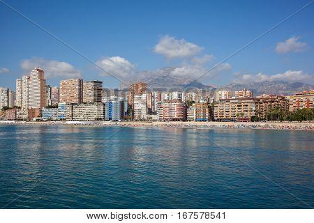 The coast of Mediterranean resort Benidorm