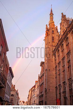 Bruges City Hall on Burg Square.