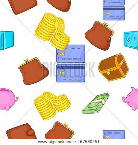 Cash pattern. Cartoon illustration of cash vector pattern for web