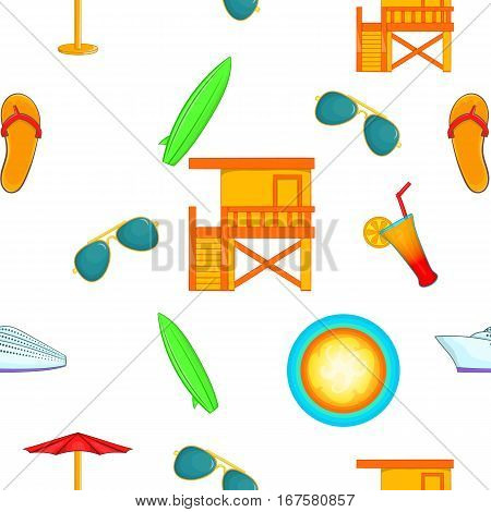 State of Miami pattern. Cartoon illustration of state of Miami vector pattern for web