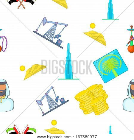 State of UAE pattern. Cartoon illustration of state of UAE vector pattern for web
