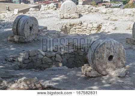 archeological remains in Santa Barbara castle alicante spain