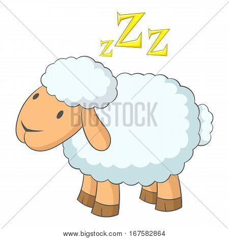 Sheep icon. Cartoon illustration of sheep vector icon for web