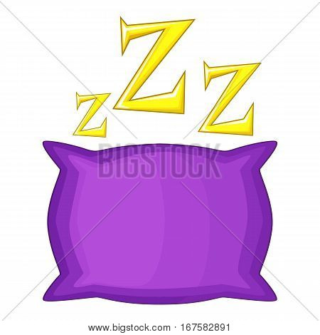 Pillow icon. Cartoon illustration of pillow vector icon for web