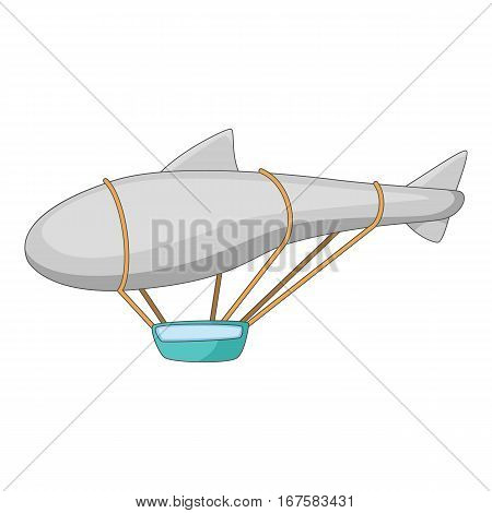 Flying dirigible icon. Cartoon illustration of flying dirigible vector icon for web