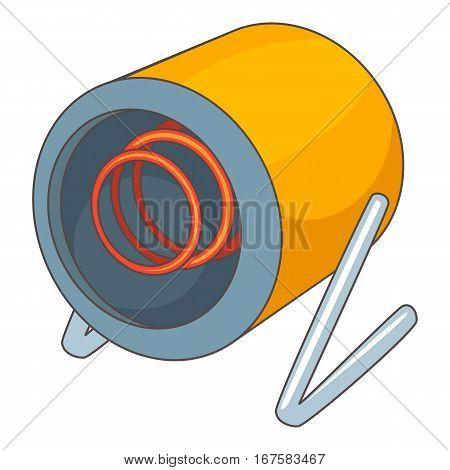 Heat gun icon. Cartoon illustration of heat gun vector icon for web
