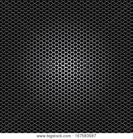 black metal dot perforated texture vector illustration