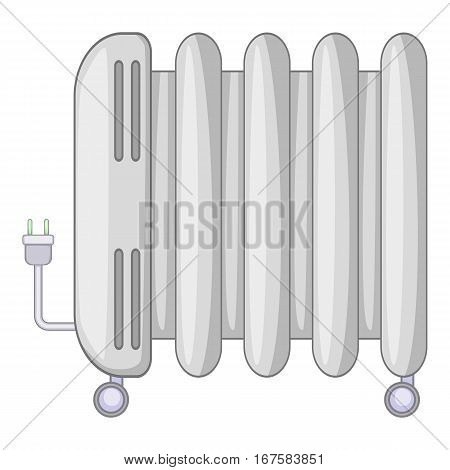 Electric heater icon. Cartoon illustration of electric heater vector icon for web