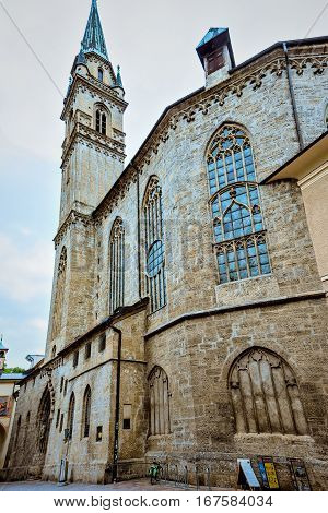 Salzburg Cathedral in Austria. Wide view photography