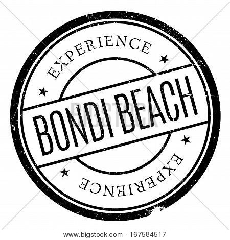 Bondi Beach stamp. Grunge design with dust scratches. Effects can be easily removed for a clean, crisp look. Color is easily changed.