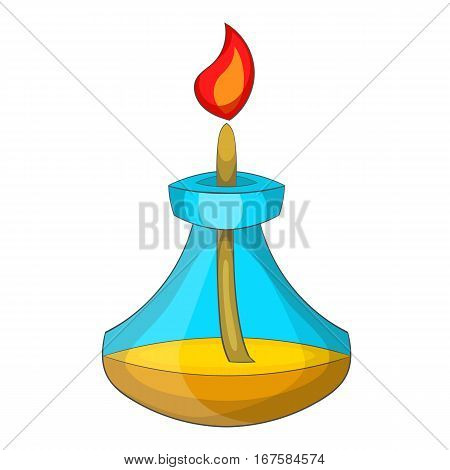 Chemical burner icon. Cartoon illustration of chemical burner vector icon for web