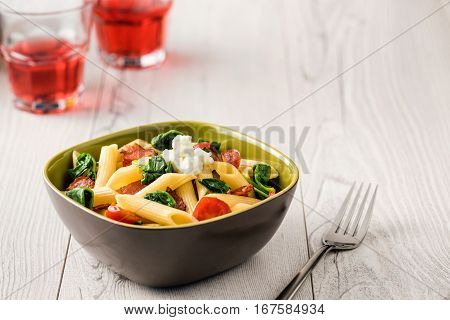 Tomato And Bacon Penne Pasta