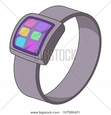 Smart watch icon. Cartoon illustration of smart watch vector icon for web
