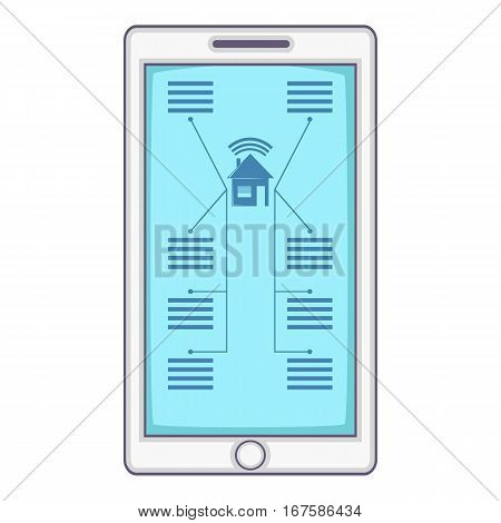 Smart home device icon. Cartoon illustration of smart home device vector icon for web