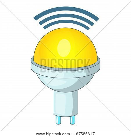 Wireless LED light icon. Cartoon illustration of wireless LED light vector icon for web