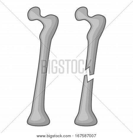 Broken bone icon. Cartoon illustration of broken bone vector icon for web