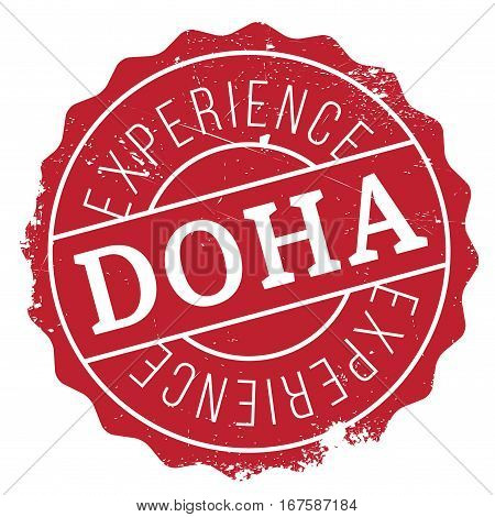 Doha stamp. Grunge design with dust scratches. Effects can be easily removed for a clean, crisp look. Color is easily changed.
