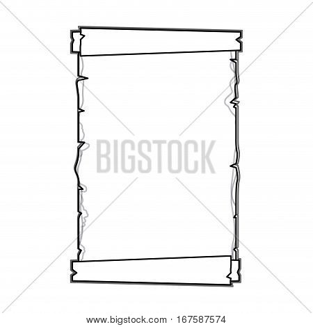silhouette old ancient papyrus parchment scroll vector illustration