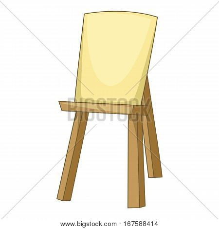 Wooden easel icon. Cartoon illustration of wooden easel vector icon for web